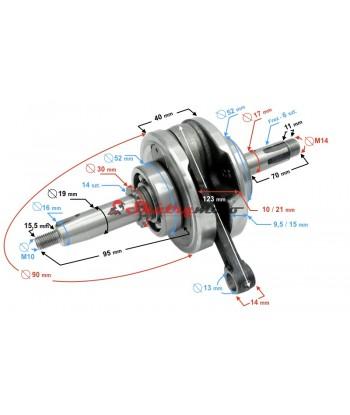 Kliková hřídel ATV 110,125 ccm